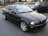 2001 Jet Black BMW 3 Series 325i Coupe #39740869