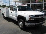 Summit White Chevrolet Silverado 3500 in 2003