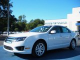 2011 White Platinum Tri-Coat Ford Fusion SEL #39739277