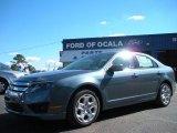 2011 Steel Blue Metallic Ford Fusion SE #39739280