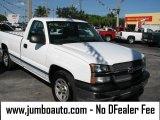 2005 Summit White Chevrolet Silverado 1500 Regular Cab #39740884