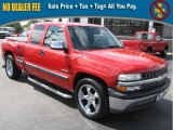 2001 Victory Red Chevrolet Silverado 1500 LS Extended Cab #39740493