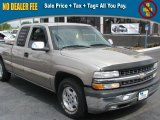 2001 Sunset Gold Metallic Chevrolet Silverado 1500 LS Extended Cab #39740502