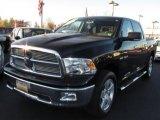 2009 Brilliant Black Crystal Pearl Dodge Ram 1500 Big Horn Edition Crew Cab 4x4 #39740025