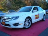 2010 White Platinum Tri-coat Metallic Ford Fusion SEL #39739414