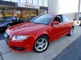 2008 Brilliant Red Audi A4 2.0T quattro S-Line Sedan #39739426