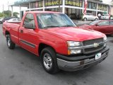 2004 Victory Red Chevrolet Silverado 1500 Regular Cab #39740550