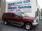 2004 Dark Toreador Red Metallic Ford F250 Super Duty Lariat SuperCab 4x4 #39741134