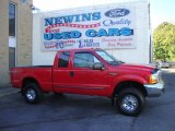2000 Red Ford F250 Super Duty XLT Extended Cab 4x4 #39741142