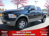 2011 Hunter Green Pearl Dodge Ram 1500 SLT Outdoorsman Crew Cab 4x4 #39888965