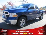 2011 Deep Water Blue Pearl Dodge Ram 1500 SLT Quad Cab #39888969