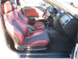 2008 Hyundai Tiburon SE SE Red Leather/Black Sport Grip Interior