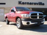 2006 Inferno Red Crystal Pearl Dodge Ram 1500 ST Regular Cab #39889203