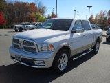 2011 Bright White Dodge Ram 1500 Laramie Crew Cab #39925106