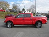 2010 Vermillion Red Ford F150 XLT SuperCrew 4x4 #39924802