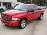 Flame Red Dodge Ram 1500 in 2003