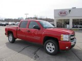 2009 Victory Red Chevrolet Silverado 1500 LT Crew Cab 4x4 #39943775