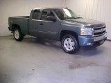 2007 Blue Granite Metallic Chevrolet Silverado 1500 LT Extended Cab 4x4 #39943833