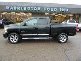 2008 Brilliant Black Crystal Pearl Dodge Ram 1500 Laramie Quad Cab 4x4 #40004628