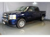 2009 Imperial Blue Metallic Chevrolet Silverado 1500 LT Crew Cab 4x4 #40064222