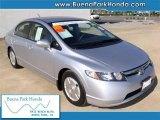 2007 Alabaster Silver Metallic Honda Civic Hybrid Sedan #40064028