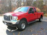 2002 Red Clearcoat Ford F250 Super Duty XLT SuperCab 4x4 #40064395