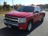 2011 Victory Red Chevrolet Silverado 1500 LT Extended Cab #40134422