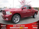 2011 Deep Cherry Red Crystal Pearl Dodge Ram 1500 Sport Quad Cab #40133848