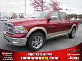 2011 Deep Cherry Red Crystal Pearl Dodge Ram 1500 Laramie Crew Cab #40133854
