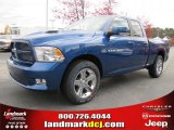 2011 Deep Water Blue Pearl Dodge Ram 1500 Sport Quad Cab #40133856