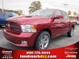 2011 Deep Cherry Red Crystal Pearl Dodge Ram 1500 Sport Crew Cab #40133857