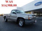 2004 Silver Birch Metallic Chevrolet Silverado 1500 Z71 Regular Cab 4x4 #40133864