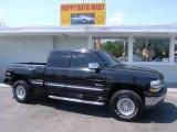 2000 Onyx Black Chevrolet Silverado 1500 Z71 Extended Cab 4x4 #4015403
