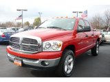 2007 Flame Red Dodge Ram 1500 ST Quad Cab 4x4 #40134560