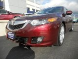2010 Basque Red Pearl Acura TSX V6 Sedan #40134592