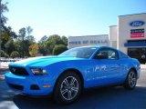 2011 Grabber Blue Ford Mustang V6 Premium Coupe #40218620