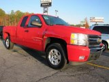 2010 Victory Red Chevrolet Silverado 1500 LT Extended Cab 4x4 #40218877