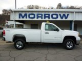 2007 Summit White GMC Sierra 2500HD SLE Regular Cab 4x4 #40218646