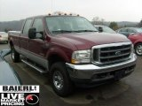 2004 Dark Toreador Red Metallic Ford F250 Super Duty XLT Crew Cab 4x4 #40218358