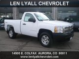 2008 Summit White Chevrolet Silverado 1500 Work Truck Regular Cab 4x4 #40218651