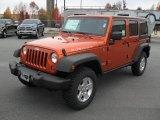 2011 Jeep Wrangler Unlimited Mango Tango Pearl