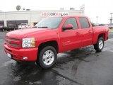 2011 Victory Red Chevrolet Silverado 1500 LT Crew Cab 4x4 #40219055