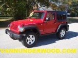 2010 Flame Red Jeep Wrangler Rubicon 4x4 #40218482