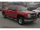 2003 Victory Red Chevrolet Silverado 2500HD LS Extended Cab 4x4 #40302694
