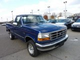 Royal Blue Metallic Ford F150 in 1996