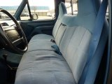 1996 Ford F150 XLT Regular Cab 4x4 Blue Interior