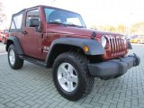 2009 Jeep Wrangler Red Rock Crystal Pearl Coat