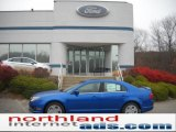 2011 Blue Flame Metallic Ford Fusion SE #40302198