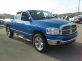 2008 Electric Blue Pearl Dodge Ram 1500 Big Horn Edition Quad Cab 4x4 #40302424