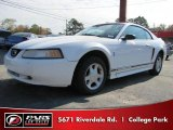 2000 Crystal White Ford Mustang V6 Coupe #40302841